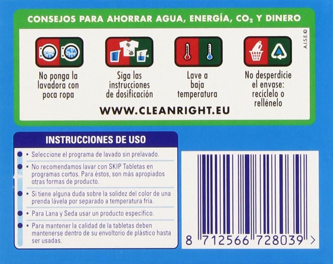 Skip - Active Clean - Cápsulas para lavadora - 32 unidades - [Pack ...