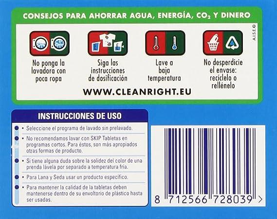 Skip - Active Clean - Cápsulas para lavadora - 32 unidades: Amazon ...