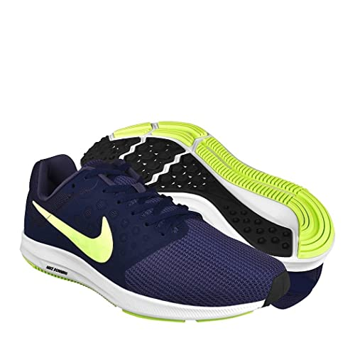 b5fc09b77e176 Nike Men s Downshifter 7 Running Shoe Thunder Blue Volt Glow Obsidian Black  Size 10.5 M US  Buy Online at Low Prices in India - Amazon.in