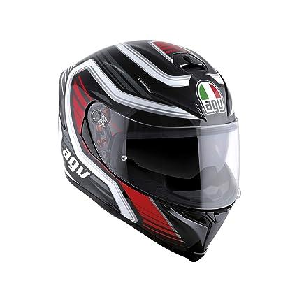 Silver Moto Motorcycle Full Face HelmetAll Sizes AGV K5-S Magnitude Black