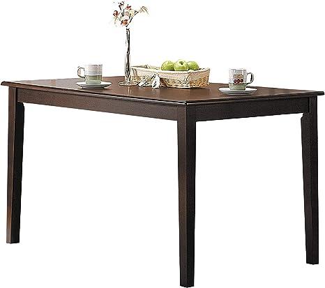 Amazon Com Acme 6850 Cardiff Espresso Finish Dining Table Chairs