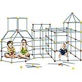 158 pcs Fort Building Kit Construction Forts Toys - DIY Build Making Kits Fort Building Kit for Boys and Girls Age 5+ Castles