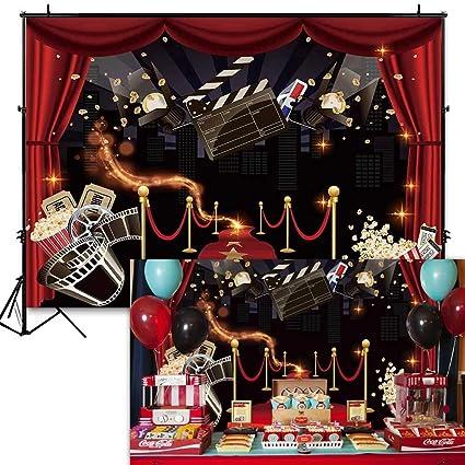 EdCott 10x8ft Vinyl Hollywood Party Telón de Fondo Popcorn ...