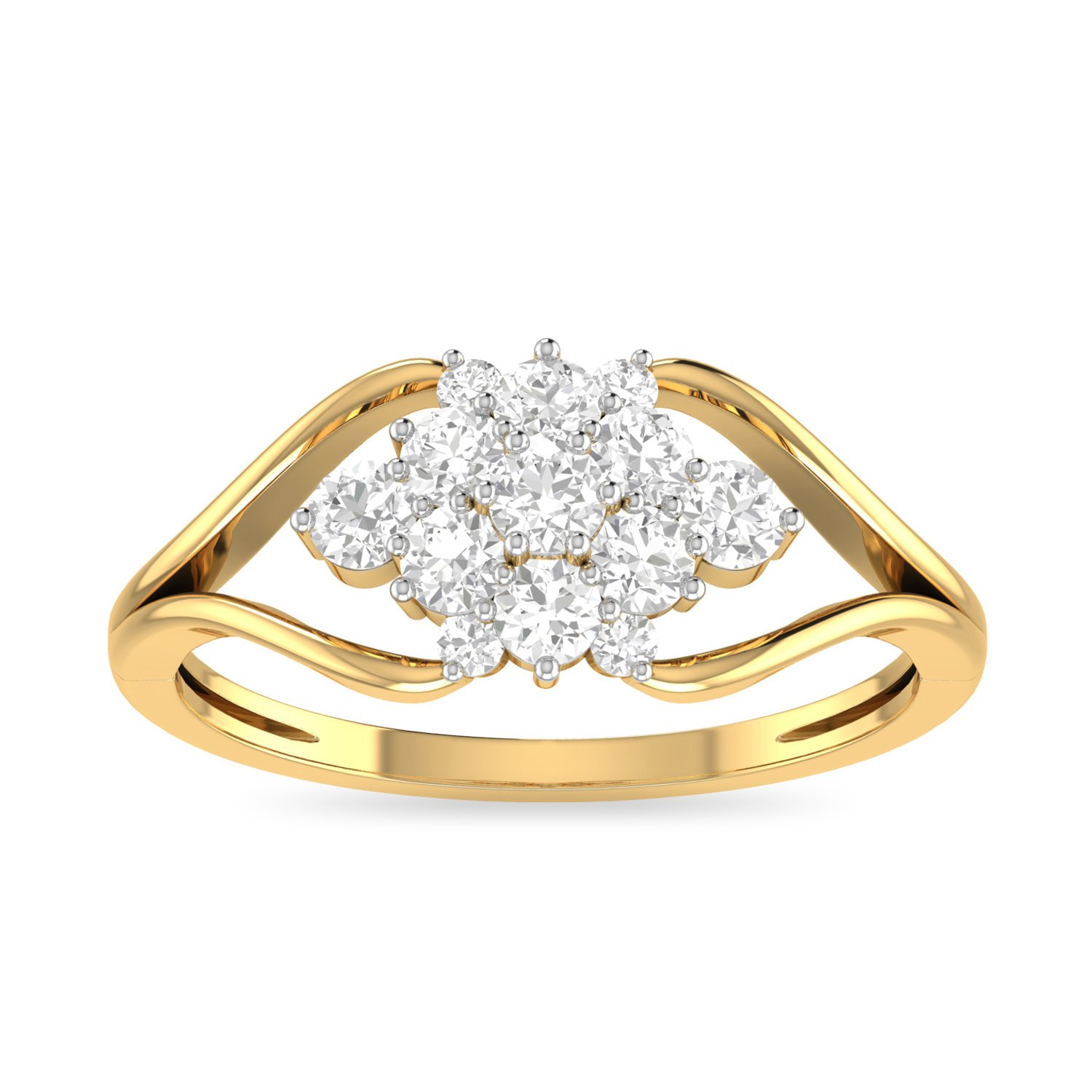 632c5efd73bc1 Buy PC Jeweller The Grania 18KT Yellow Gold & Diamond Rings Online ...