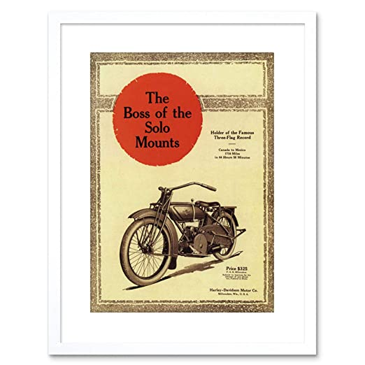 Wee Blue Coo AD Harley Davidson 1919 Solo Mount Motorcycle ...