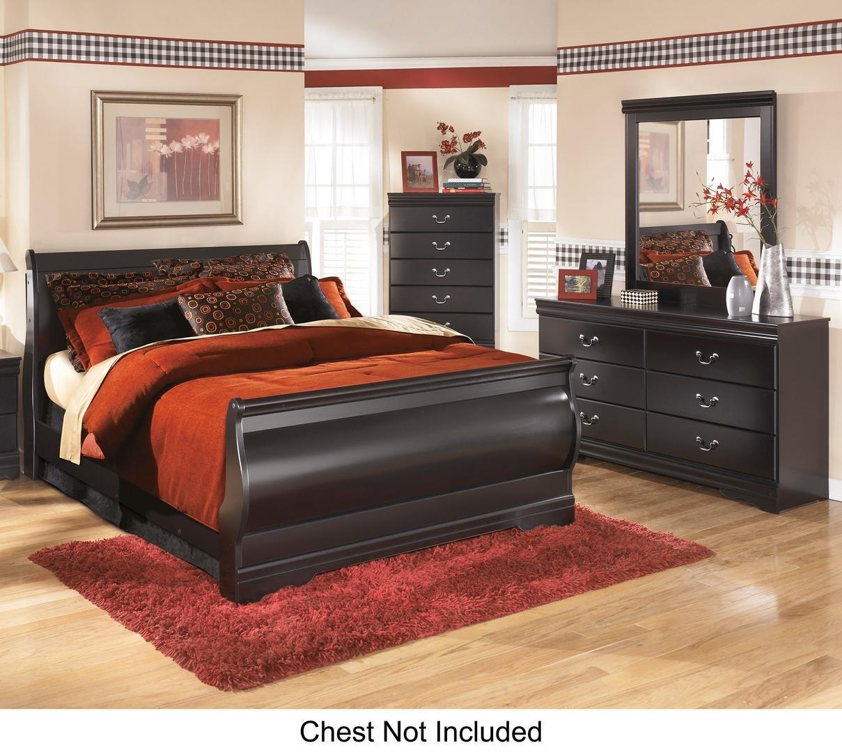 Amazon.com: Huey Vineyard Queen Bedroom Set with Sleigh Bed Dresser ...