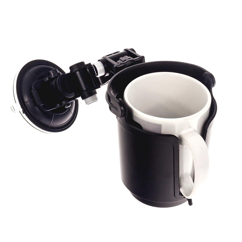 Smartfox Kfz-Geträ nkehalter fü r die Lü ftung geeignet fü r 0,30-0,50 Liter Dosen, Flaschen (Dosen-/Flaschendurchmesser von 5,3 cm - 7 cm), Becher, Tassen 4053176929404