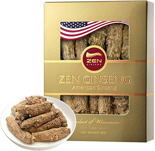 Half Short Large American Wisconsin Ginseng Root 4oz Box Performance Mental Health for Men Women