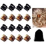 30 Pack Mini Hair Clips for Girls Women,Mini Hair Clips Plastic Hair Claws Pins Clamps for Girls and Women(Black and…