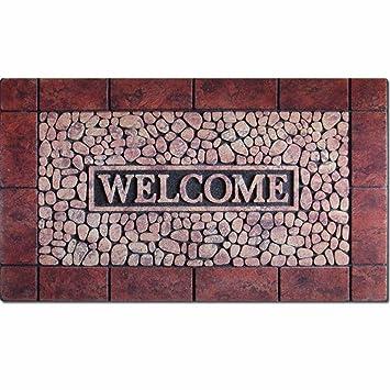 QIANMO Colchones colchones colchones Carpet Flocado de Goma Alfombrillas Europeo Puertas Exteriores Alfombras alfombras Alfombras alfombras de baño Cocina 5 ...