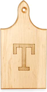 product image for J.K. Adams Q-Tee Cut-Up Sugar Maple Wood Cutting Board, 7-1/2-inches by 4-inches, Alphabet Series, T
