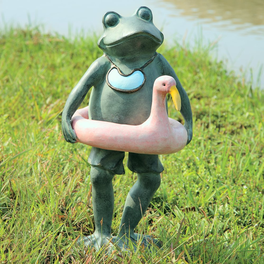 SPI Home 33470 Beach Buddy Frog Sculpture by SPI Home