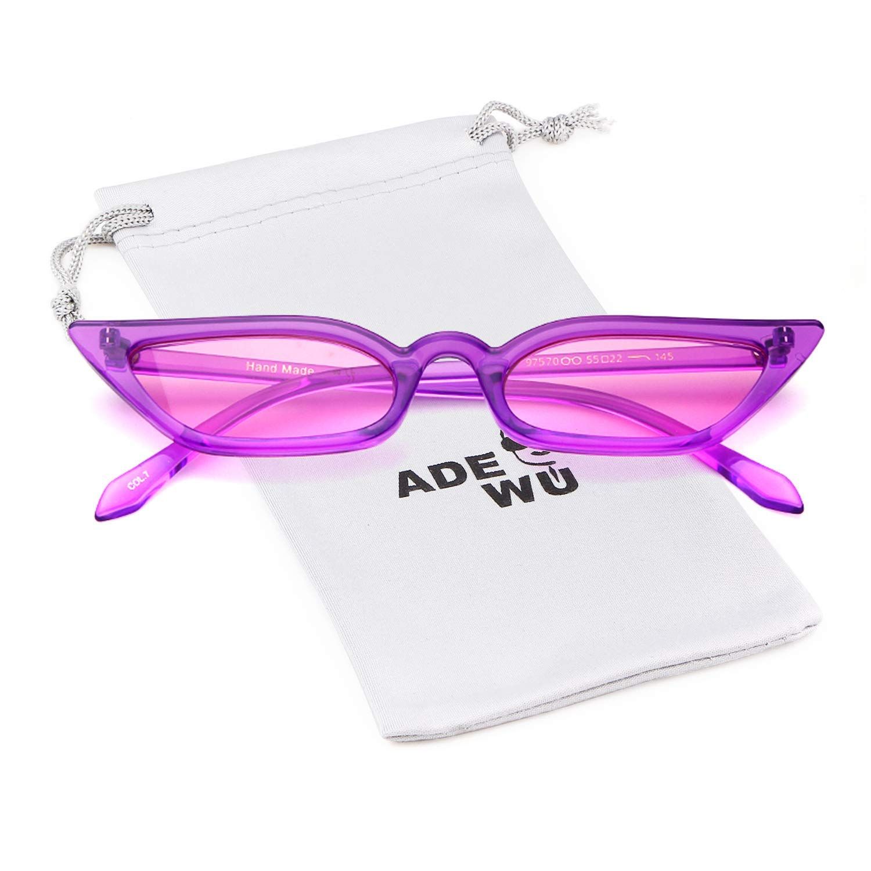 ADEWU Cat Eye Sunglasses Vintage Rectangle Glasses Women Girls
