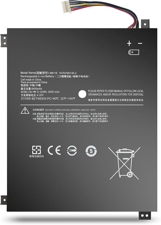 BatteryMon NB116 Battery Replacement for Lenovo 100S-11IBY 80R2 Mini Laptop 5B10K37675-31.92Wh 3.8V