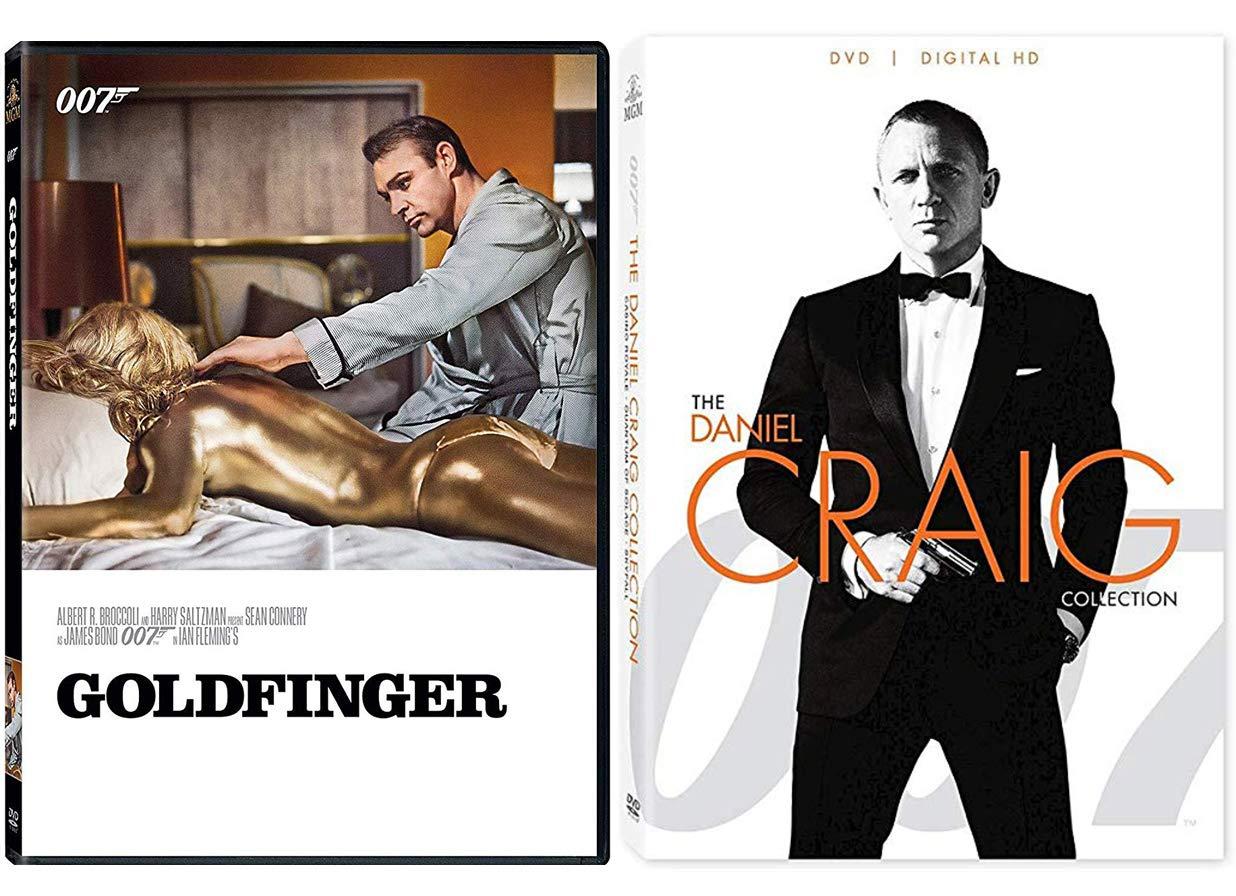 Amazon Com 007 Sean Connery Goldfinger James Bond Dvd Daniel Craig Collection Skyfall Quantum Of Solace Casino Royale 4 Feature Films Sean Connery Danile Craig Guy Hamilton Movies Tv