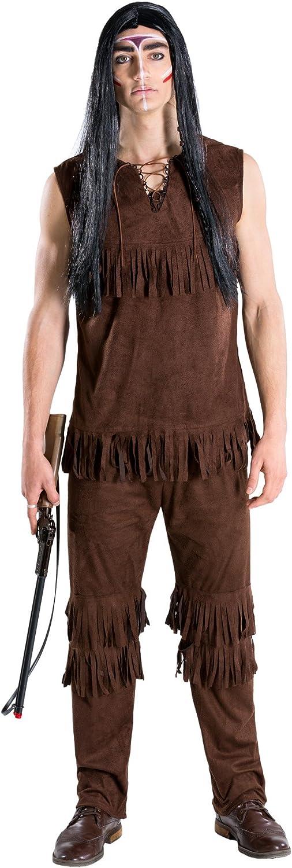 TecTake Disfraz de Jefe Indio Gran búfalo Salvaje para Hombre   Parte Superior sin Mangas y pantalón con Flecos Decorativos (M   no. 300682)