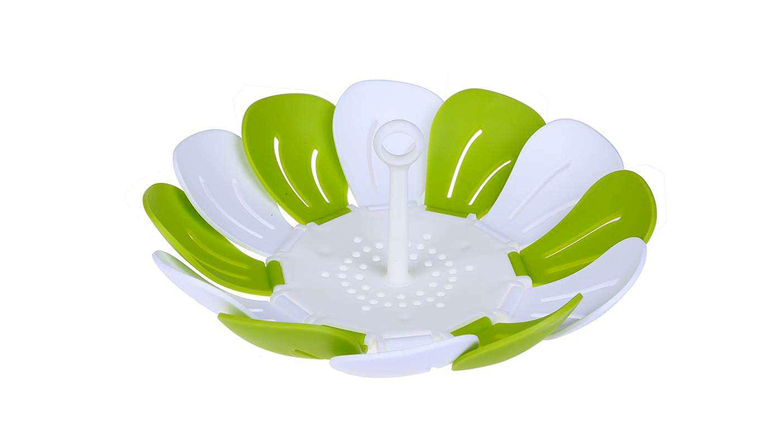 Bioexcel Silicone Vegetable Steamer Rack 26 cm / 10 Inch Multi Purpose Premium Quality Steamer Tray Vegetable Steamer Basket