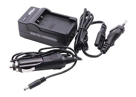 Cargador Cable de Carga + Cargador Coche para baterías CASIO NP-60 para Casio Exilim EX-Z25, EX-Z90