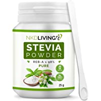 NKD Living 100% Pure Stevia Powder, Reb-A 98%