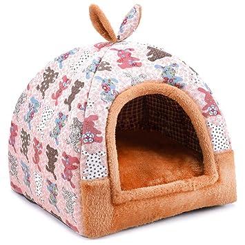 Hanshu - Casa para mascotas 2 en 1, incluye un sofá interior suave y cálido lavable. Cama como forma de iglú para perros y gatos: Amazon.es: Productos para ...