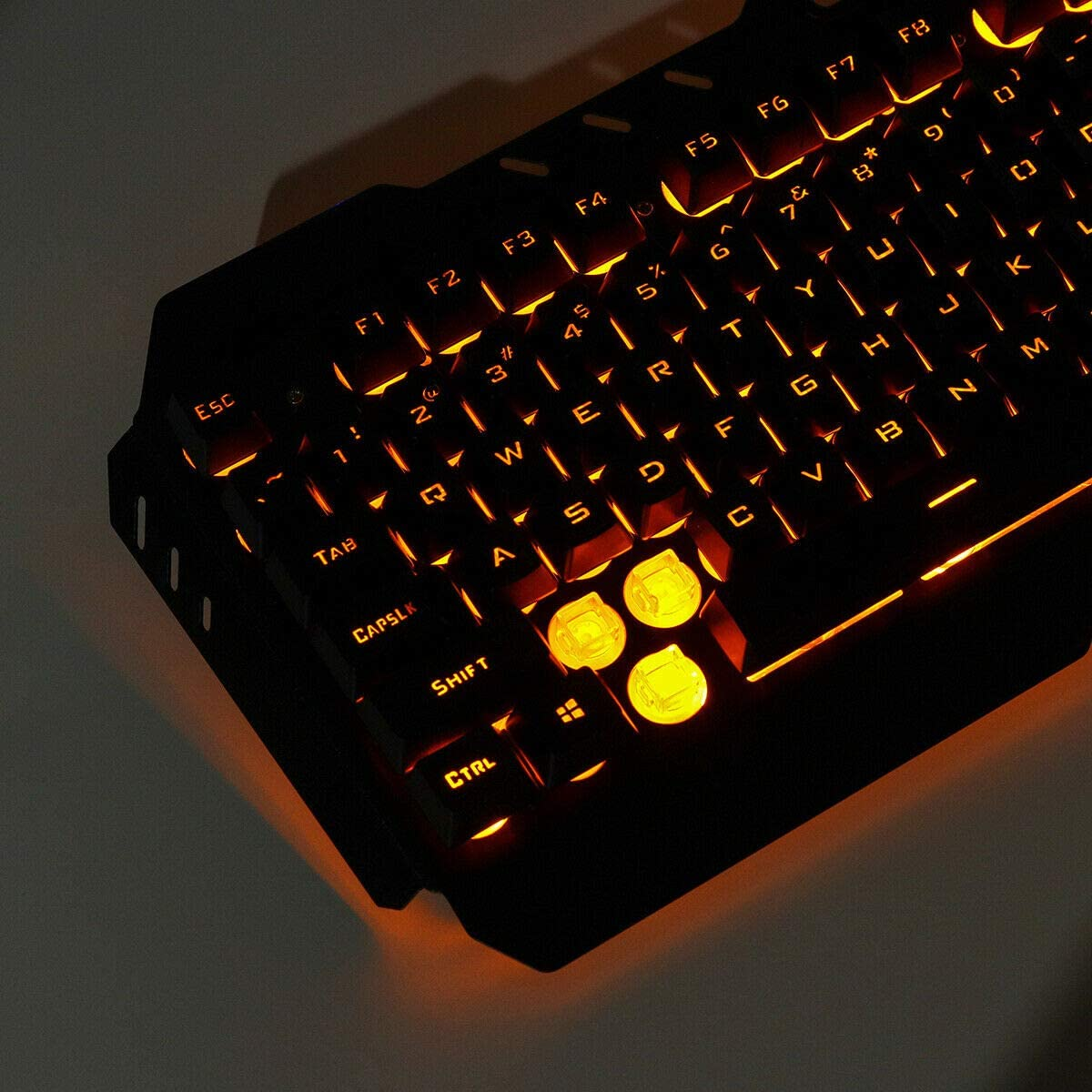 Redcolourful Computer Desktop Gaming Keyboard and Mouse Mechanical Feel LED Light Backlit As Shown