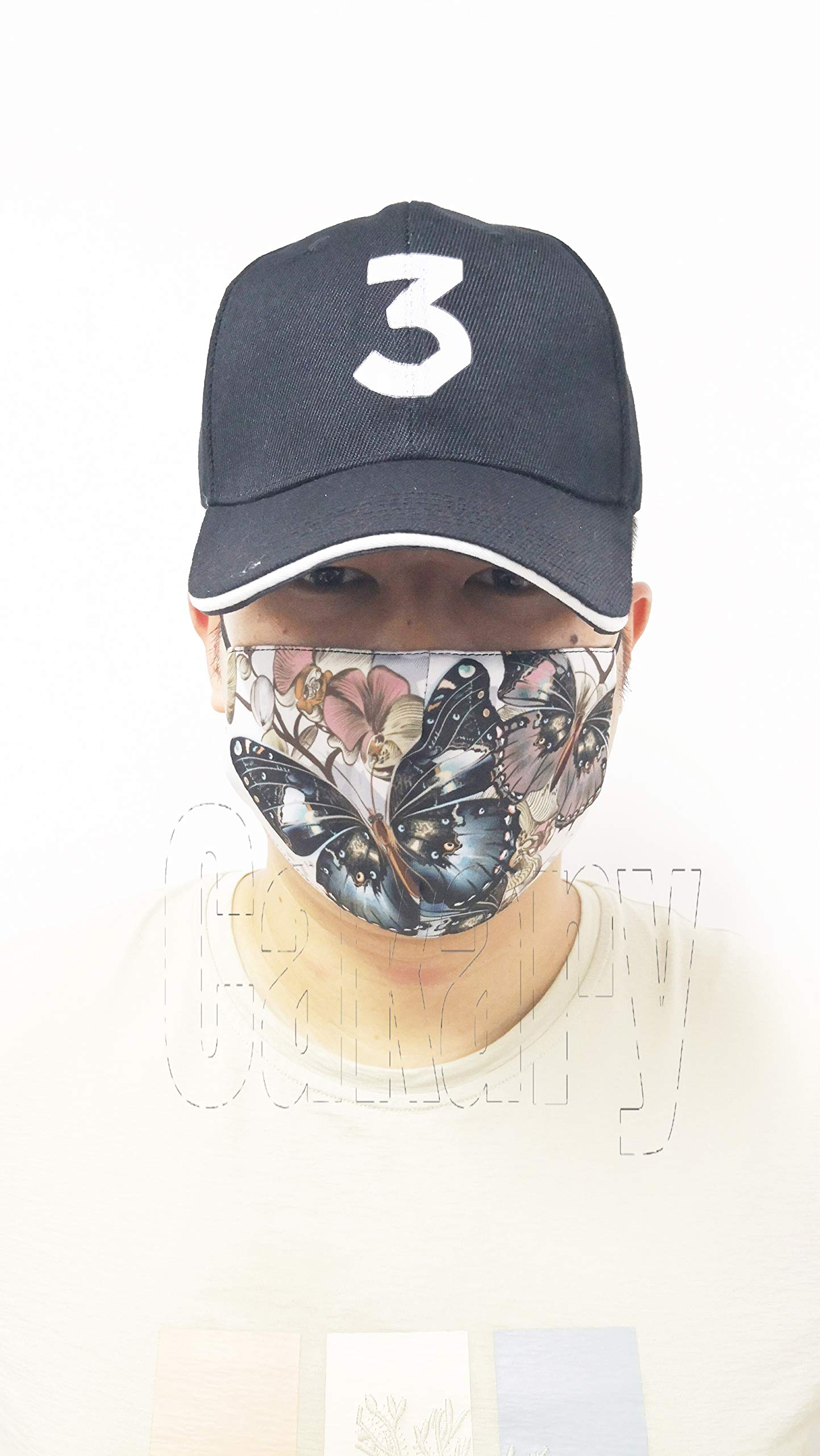 N7bloom Boys Winter Warm Mouth Anti-Dust Flu Face Mask Orchid Butterfly by N7bloom (Image #7)