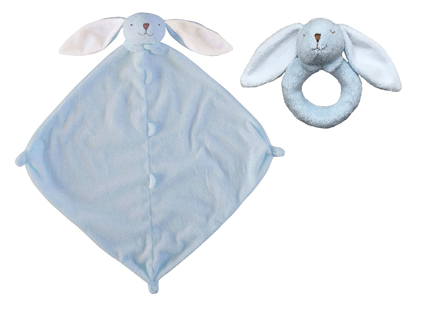 Angel Dear Blue Bunny Blankie & Ring Rattle Set by Angel Dear   B001AT44IO