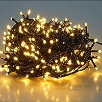 SALCAR 25.7m 360 Leds Cadena de Luces IP44 Impermeable, LED Luz Cadena Ligera Navidad, Led Cadena Luminosa con 8 Modos…