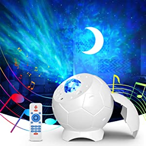 Fezax Star Night Light Projector, Romantic Starry Light with Bluetooth Speaker and Sound Activated, Nebula Galaxy Light Projector, 28 Lighting Effects for Bedroom, Home, Theatre, Room Decor, Party