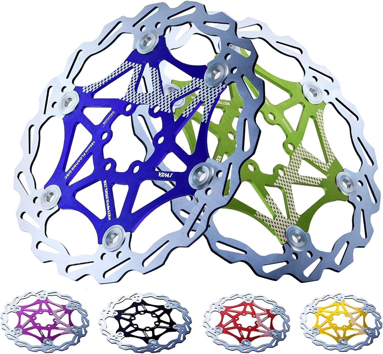 QXYOGO Disco Freno 1 PCS Freno de Bicicleta 160 mm / 180 mm / 203mm de Freno de Disco MTB DH DC Rotores de Freno de hidromasaje Flotador Multicolor Multicolor Pista de Bicicletas Freno Disco