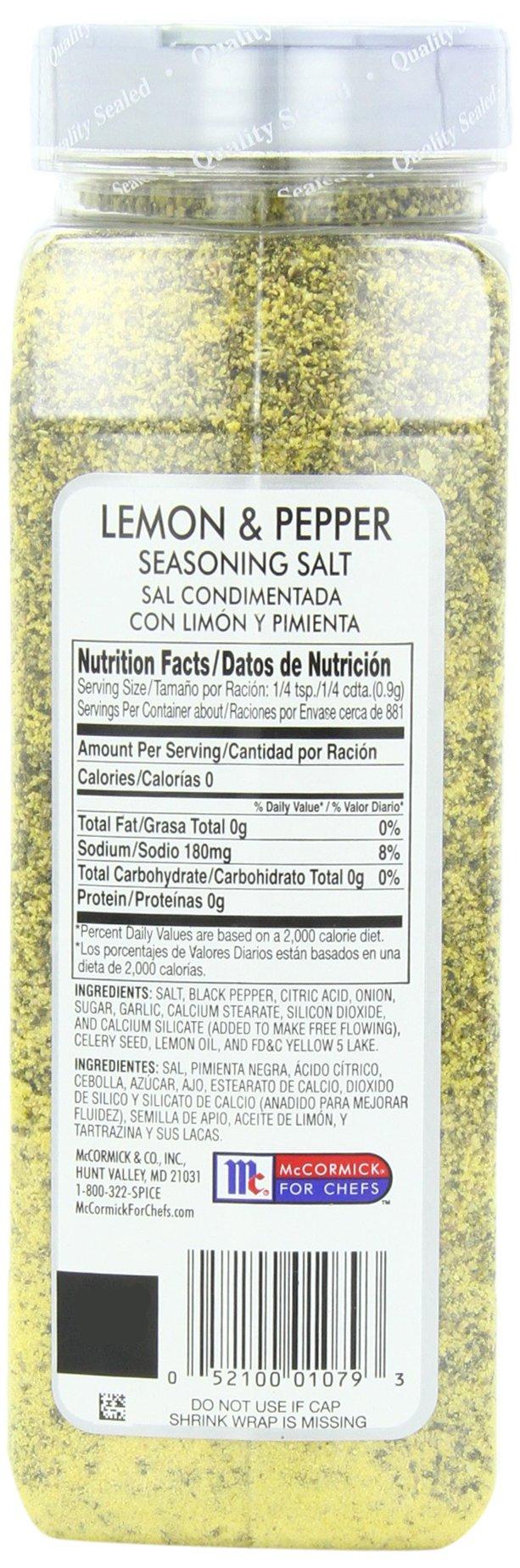 McCormick Culinary Lemon & Pepper Seasoning Salt, 28 oz by McCormick (Image #6)