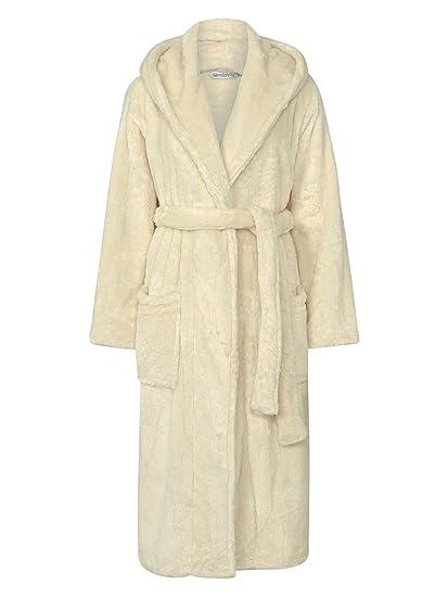 28ef3e2f63 Slenderella Luxury Full Length Hooded Super Soft Fleece Dressing Gown   Amazon.co.uk  Clothing