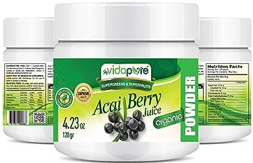 myVidaPure Organic ACAI BERRY JUICE POWDER. 100% Pure Natural RAW Non-GMO.