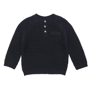 61e76e9a5c8d Amazon.com  DOYOMODA Baby Boy Crew Neck Button Down Sweater Toddler ...