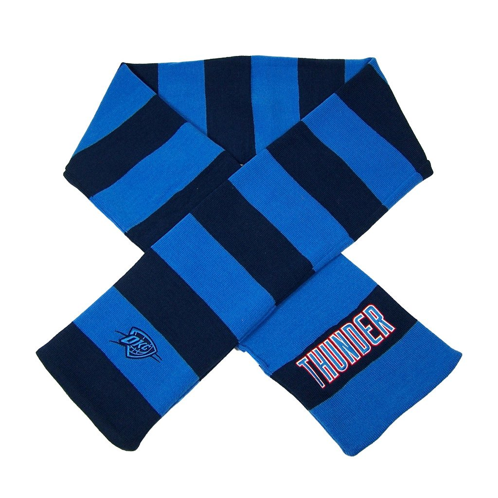Forever Collectibles Oklahoma City Thunder Official NBA Striped Rugby Scarf 381889