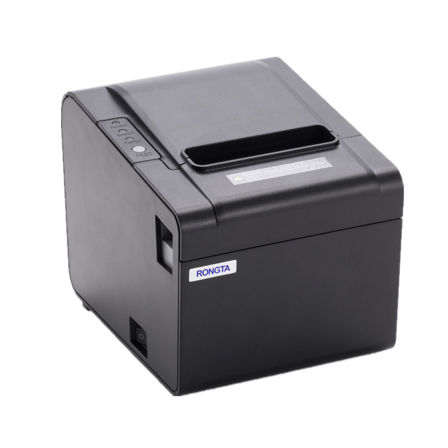 Rongta RP326USE Thermal Printer - USB Serial Ethernet Port POS Thermal Receipt Printer Compatible 80mm Thermal Paper Rolls - 250mm/sec High-speed Printing with ESC / POS Print Commands.(Black)