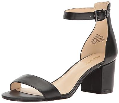 79d23949a5d Nine West Women s Fields Leather Dress Sandal Black 11 M US