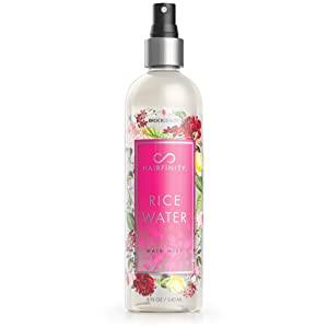 Hairfinity Rice Water Hair Mist - Silicone & Sulfate Free Growth Formula - Best for Damaged, Dry, Curly or Frizzy Hair - Thickening for Thin Hair, Safe for Keratin and Color Treated Hair 8oz