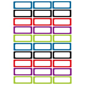 Ashley Productions ASH10078BN Die-Cut Magnetic Foam Assorted Color Labels/Nameplates, 30 Per Pack, 3 Packs