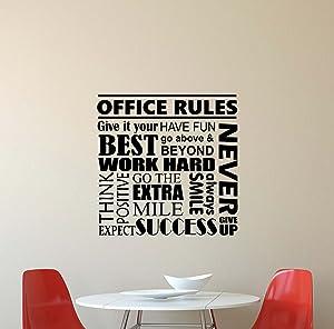 Julia Cruz Office Rules Wall Decal Quote Inspirational Lettering Vinyl Sticker Motivational Boss Gift Decorations Home Bedroom Decor Art Poster Mural Custom Print 603