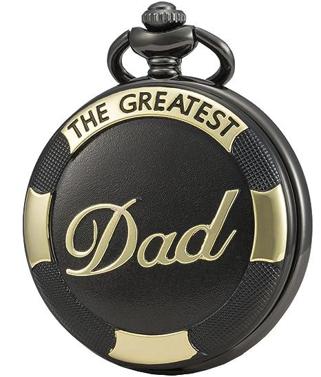 SEWOR reloj para el regalo familiar reloj de bolsillo de cuarzo esfera japonesa con doble cadena