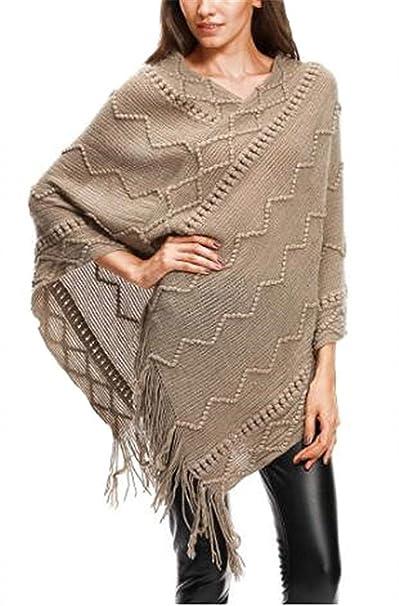 Maglione Donna Eleganti Autunno Invernali Poncho Capa
