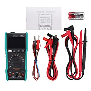 Neoteck 9999 Counts TRMS Auto Range Digital Multimeter, Amp Volt Ohm Tester Meter with Temperature Capacitance Frequency Continuity Test