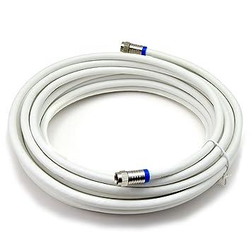 Satix cable coaxial profesional 10 m con conectores F factor de blindaje 120 dB para televisión