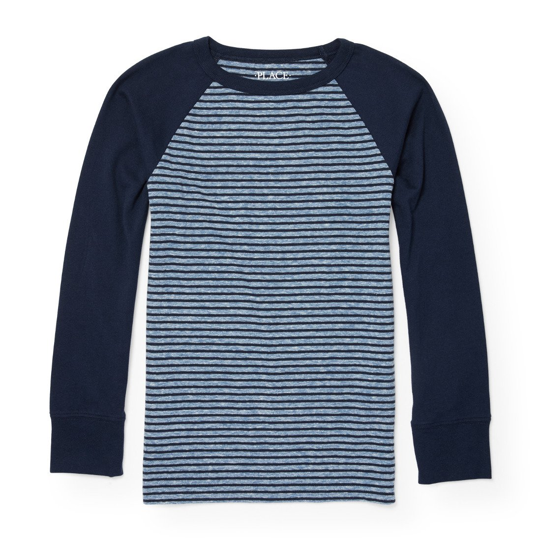 The Children's Place Boys' Big Long Sleeve Raglan Stripe Knit Top 2090952