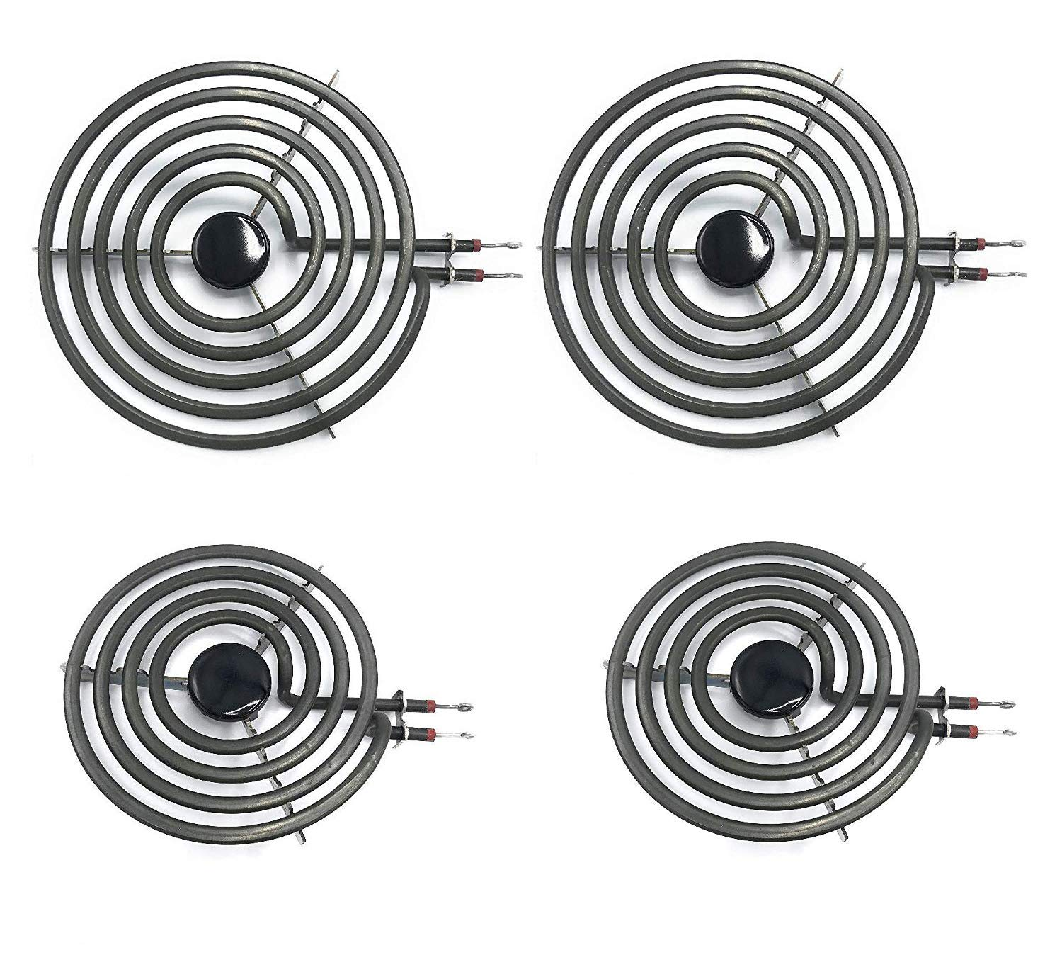 "Siwdoy (Pack of 4) MP22YA Electric Range Burner Element Unit Set - 2 pcs MP15YA 6"" and 2 pcs MP21YA 8"""