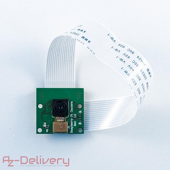 9 opinioni per AZDelivery camera per Raspberry Pi / Modulo telecamera con filtro IR / Videocam