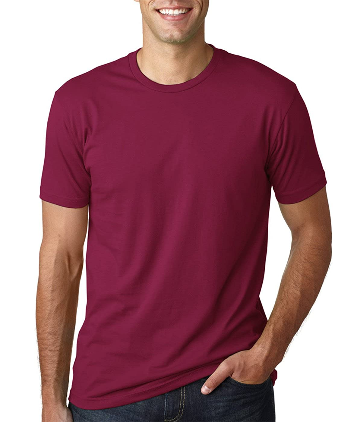 - Medium Black Next Level Mens Premium Fitted Short-Sleeve Crew T-Shirt Cardinal 2 Pack