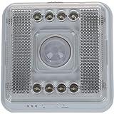 SODIAL(R) LAMPADA NOTTURNA SENSORE DI MOVIMENTO INFRAROSSI 8 LED