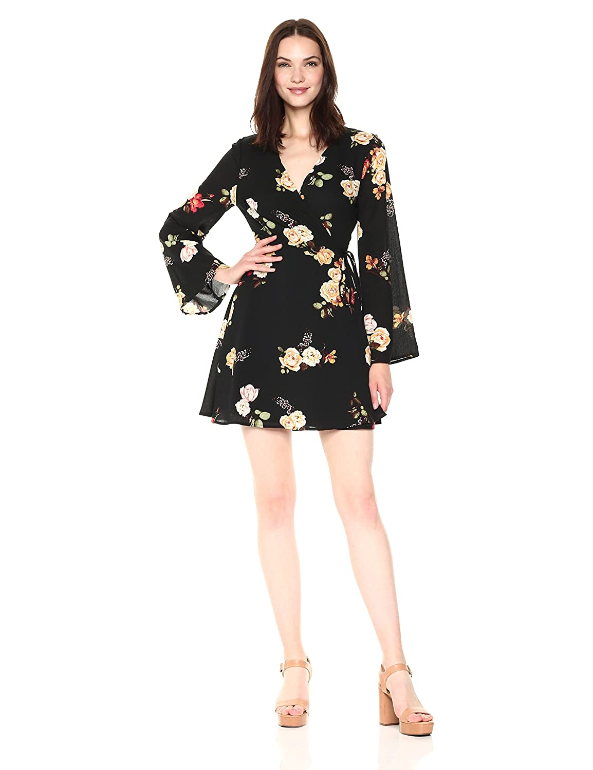 1bd098ac8b5 Taylor and Sage Women s Floral Wrap Dress at Amazon Women s Clothing store